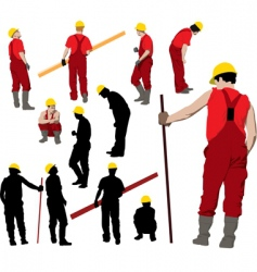 Team of construction workers vector