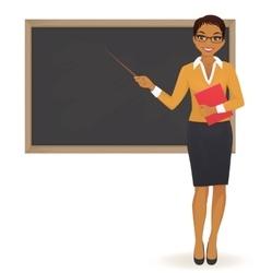 The teacher at blackboard vector