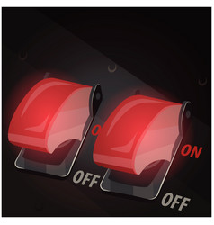 Toggle switches with safety covers vector