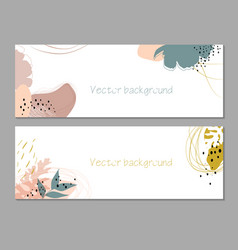 Trendy abstract floral autumn horizontal template vector