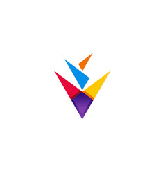 triangle colorful abstract logo vector image