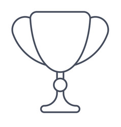 trophy cup for winner vector image