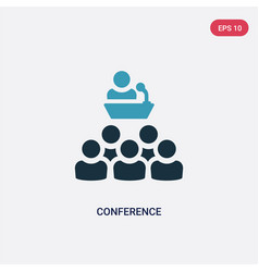 two color conference icon from social media vector image