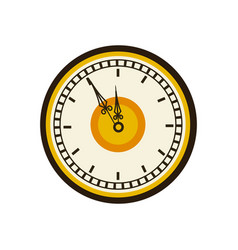 Vintage clock time round design vector