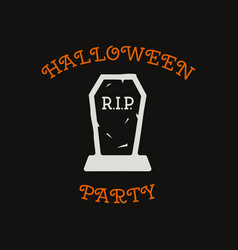 vintage halloween typography badge graphics vector image