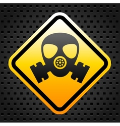 Warning sign with gas mask vector image