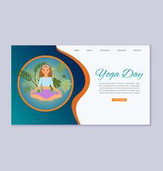 yoga club inscription on site active health vector image
