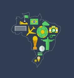 Brazil worldcup event flat design vector image vector image