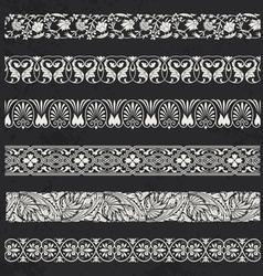 Decorative seamless ornamental borders vector image vector image