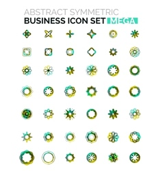 Flower star shaped business icons vector image vector image