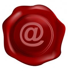 wax seal tithe internet symbol vector image vector image