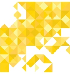 Yellow Abstract Pattern - Triangle and Square vector image vector image
