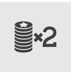 Casino bet icon vector image vector image