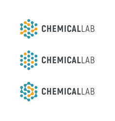 chemical lab logo template abstract hexagon vector image vector image