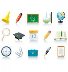 education school icons vector image