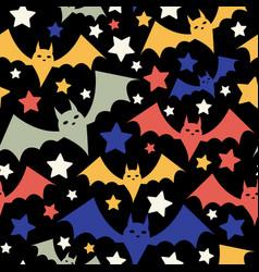 halloween bat pattern vector image