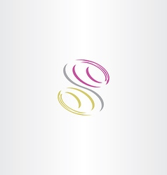 letter s icon symbol vector image vector image
