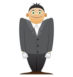 Modest office man vector image vector image