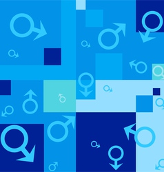 seamless background with male symbols vector image vector image