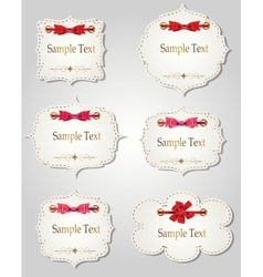 set of different gift cards with ribbons design vector image vector image