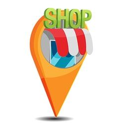 Shop Map Navigator Pin Icon vector image vector image