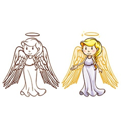 Two angels vector image vector image