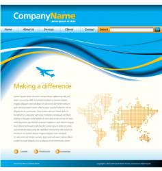 wave web page vector image vector image