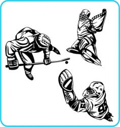 winter olympic games hockey vector image vector image