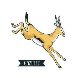 antelope image digital painting full color cartoon vector image