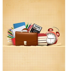 Back to school Retro education background with vector image vector image