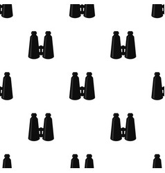 binoculars pattern in black color vector image vector image