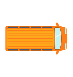 overhead top view on colorful car toy pickup vector image
