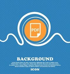 PDF Icon sign Blue and white abstract background vector image