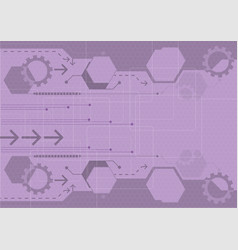 purple digital technology concept abstract vector image vector image