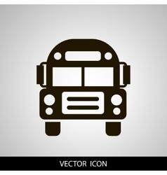 School Bus icon solid vector image vector image