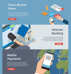 smart internet banking promotion page vector image vector image