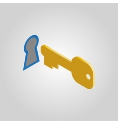 The key and keyhole icon open unblock unlock vector