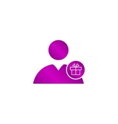 User icon present vector image