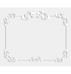 3d beautiful calligraphic frame vector image vector image