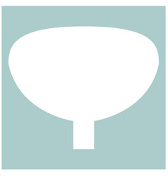 bladder the white color icon vector image vector image