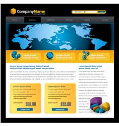 business web site vector image