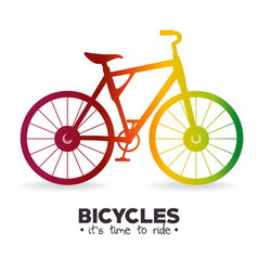i love my bike label template vector image