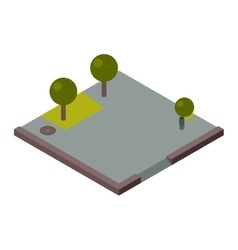 isometric land section vector image vector image