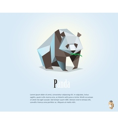 polygonal of panda low poly style object wild vector image