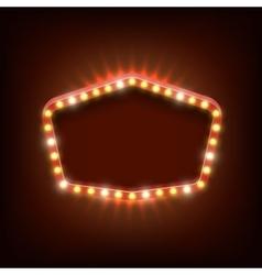 Vintage shining light banner vector image vector image
