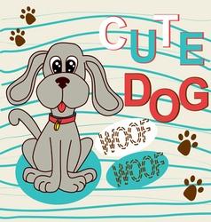 0815 4 cute dog v vector image