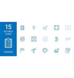15 choice icons vector