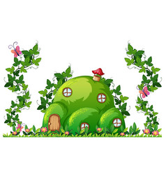 a green hill house vector image