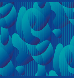abstract wave fluid blue seamless pattern vector image