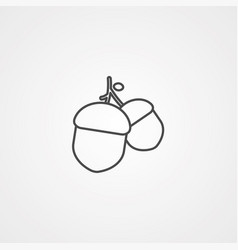 acorn icon sign symbol vector image
